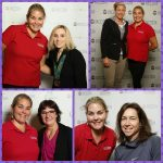 Abby Wambach, Alicia Dana, Kerri Strug and Bonnie Blair